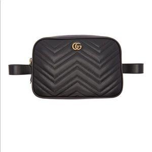 Black Gucci Marmount gg belt bag